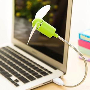 Economia de Energia de Baixa Potência Flexível Flexível Mini USB Ventilador de Refrigeração para Computador Portátil Notebook USB Gadgets Fan