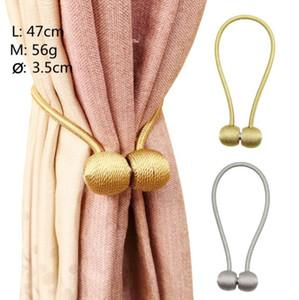 Cravate rideau magnétique Aimant Maintient le rideau Bracelet magnétique Poliban Boucle Porte-Screening clip boule rideau crochets YP205