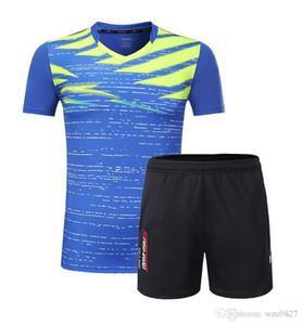 calções badminton equipe jersey +, homens / mulheres de tênis roupas sets, desgaste Ténis de Mesa shirt, Ténis / table roupas de tênis t-shirt terno