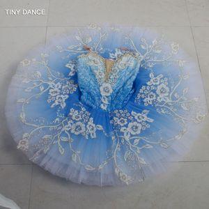 Ballet Blue Bird Adulto Meninas Professional dança traje Desempenho Tutu Classical Tutus Solo de Dança Pancake Tutu Vestido B18043