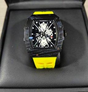 Ый 2020 РМ новые высокое качество роскошные мужские часы силиконовые призрак головы череп скелет часы известный бренд Спортивные кварцевые наручные часы полый