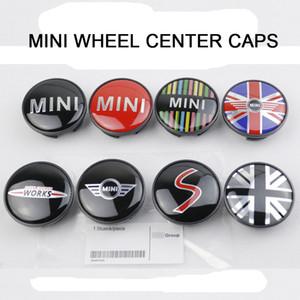 Emblema do emblema dos tampões de cubo do centro da borda da roda de carro de 54mm para quase TODO o compatriota do tanoeiro de BMW MINI