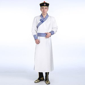 Hommes traditionnel mongol vêtements embroiderd Robe Style national de luxe festival stage porter Parti Robe mâle Asie costume