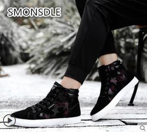 SMONSDLE High-top scarpe da uomo autunno e inverno tendenza maschile sport e tempo libero inverno più scarpe di velluto di cotone