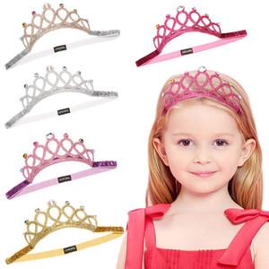Bambini ragazze Strass Sequin glitter Fascia archetto Tiaras fascia per capelli per bambini Accessori per capelli Boutique baby Crown copricapo C6566