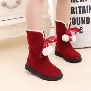 Kadın Kar Boots Ünlü Marka Boot Martin Boots Lüks Tasarım Klasik Yüksek Kalite Prenses önyükleme saç topları kar botları çocuk ayakkabıları
