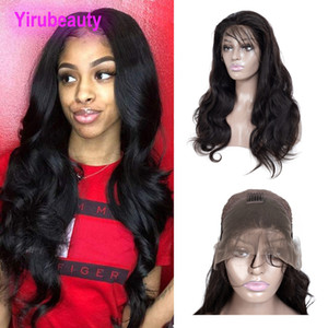 Indian Raw Human Virgin Hair 13 By 4 Lace Front Wigs Natural Color Body Wave 10-32inch Body Wave Lace Wigs Wholesale Yirubeauty