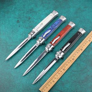 couteau automatique italien recommandé 11 pouces Mafia 8 couleurs outil de survie sur le terrain extérieur en option chasse tactique couteau pliant extérieur Survi