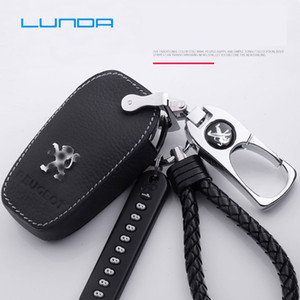Car Key Rings protect for Peugeot 206 207 2008 301 307 308sw 3008 408 508 Protective shell Key Case for Car Protective shell