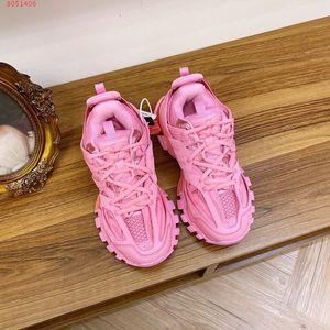 Paris pista 3.0 Tess delle donne degli uomini Triple S Comfort Casual Shoes Clunky Sneaker Blu Rosa Bianco Luxury Fashion Designer Chaussures papà scarpe