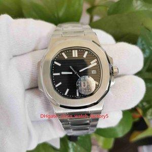 Itens Hot U1 fábrica de relógios 40 milímetros PP Nautilus 5711 / 1A 010 de alta qualidade Asia 2813 Movimento Transparente mecânico automático relógios Mens