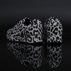 zapatos de mujer leopardo de la zapatilla de deporte Aumento antideslizantes zapatos de plataforma de la zapatilla de deporte para mujer de moda de verano aumentaron los zapatos internos