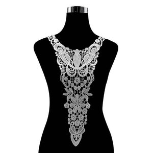 Water-soluble lace collar rayon embroidered tie lace hollow embroidered collar fake collar Women Detachable DIY collars