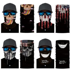 Outdoor Seamless Magic Skull Skull Scarf Face Mask Skull Scarf Cycling Riding Masks Warm Neckerchief Outdoor Facial Party Masks 500 1 #49#384