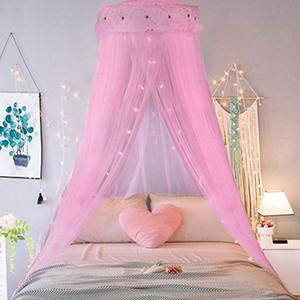 Романтическая Москитная сетка для кровати с одной дверью Купол висячей Кроватью занавес Принцесса москитных сетками Навес украшение комнаты