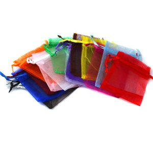 10pcs Organza Sheer Gauze Element Jewelry Bags Packing Drawable Organza Bags Wedding Gift Bags Sachet Organza Christmas Gift Bag