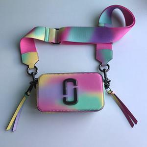 2019 nueva moda mj Ma Ying-jeou, iridiscente amplia bolsa de hombro correa de hombro bolsa de la cámara bolsa de mensajero 19 * 6 * 12