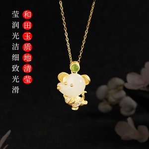 Asg Cluci Cage Pendants Golden Doodle Hot Style In The New Inset Jades Mouse Pendant Necklace You Rich Female Hotan Jewelry