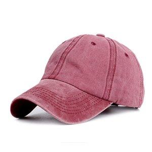 Neue Frauen gewaschener Baumwolle Cap Laufsonnenschutz Solid Color Pferdeschwanz Hut Waschbar Sonnenschutz Outdoor Sports Hut Adjustable Sonnenhut