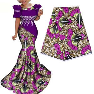Última moda 100% algodão africano Roupa cera Dutch Wax 6 jardas / lot para o vestido Partido Africano novos hollandais cera