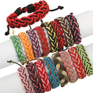 Männer und Frauen gesponnene Armband-handgemachte Handseil Mehrfarbenmischreihe japanische und koreanische Twine Armband