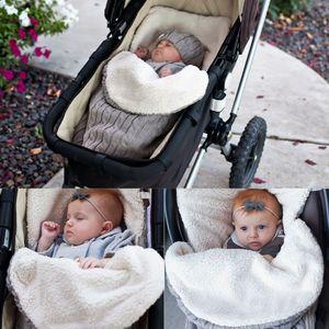 الوليد الطفل النوم أكياس الشتاء الدافئة متماسكة الكروشيه قماط التفاف swaddling بطانية أكياس النوم الناعمة