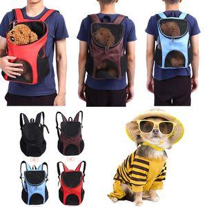 Portador de hombro doble al aire libre del morral del bolso de viaje para mascotas Perros Gatos malla de Windows