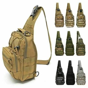 Tactical Molle Sling Chest Bag Military Canvas Messenger Crossbody Shoulder Backpack Camouflage Outdoor Sport Cycling Bags Satchel Day Packs