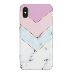 Marble pattern stitching picture IMD all-inclusive tpu soft shell for iphone6 6G 6S 6P 7G 8G 7P 8P XS 5.8 Xr 6.1 X Max 6.5