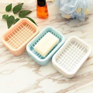 Двойной слой мыльница 3 цвета творческий туалет ручной работы мыло стойку асфальт дизайн мыльница бесплатная доставка