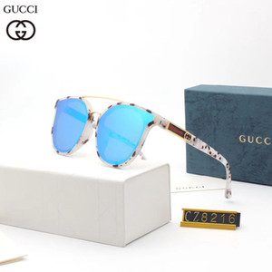 Occhiali da sole da spiaggia di alta qualità da donna Stilisti classici di moda Una montatura rotonda di occhiali metallici con un motivo dbt8216 con scatola