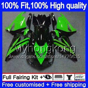 Inyección para Kawasaki ZX 14R ZZR1400 2006 2007 2009 2010 2011 223my.1aa Light Green ZZR-1400 ZX-14R ZX14R 06 07 08 09 10 11 Cargados