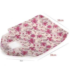 Çanta Moda Büyük Katlanabilir Naylon Torba Yeniden kullanılabilir Çevre Dostu Poşet Yeni Bayanlar Saklama Poşetleri Omuz Çanta Rastgele Gönder