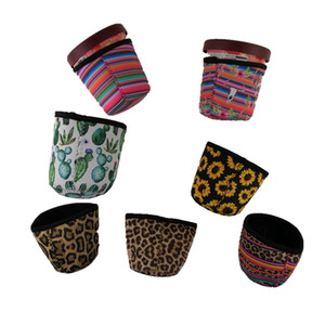 Ice Cream Holder Case Tools Neoprene Ice Cream Cover Leopard Print Sunflower Can Cooler Covers Cactus Lolly Bags WD951024