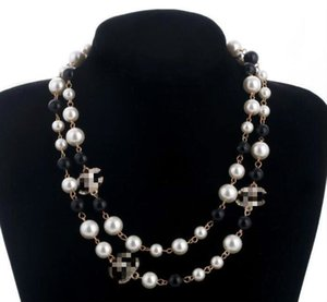 2020Luxury Camellia Jewelry Necklace pearl natural pearls white beads necklace for women Long Sweater Chain Elegant fashion Necklace