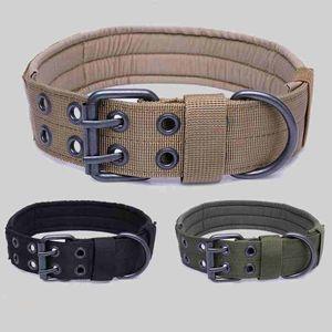 Tactical Hundehalsband Verstellbare Training Hunde-Leine-Blei-Halskette Padded Kragen für Medium Large Dog Jagd Zubehör