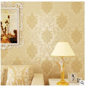 Luxury European Sticker Bedroom TV Background Wallpaper with Back Glue 3D Stereo Self-adhesive Waterproof Wallpaper