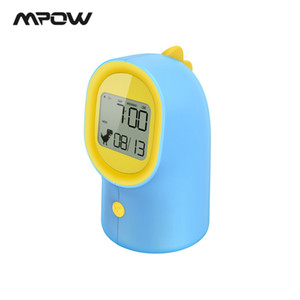 Mpow HM351 Cute Digital Alarm Clock For Kids LED Clock Sleep Trainer 3 Level Brightness 2 Alarm Voice/Volume For Children Gifts