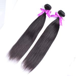 50% di sconto! Top quality 100% trama dei capelli umani trama non trasformati economici brasiliano peruviano malese indiano capelli lisci estensioni 3 pacchi