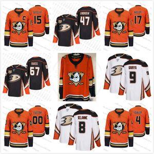 Personalizzati 2020 Ducks nuovo terzo Rickard Rakell Ryan Getzlaf Corey Perry Kesler Teemu Selanne Paul Kariya Anaheim arancione Hockey Jersey ricamati