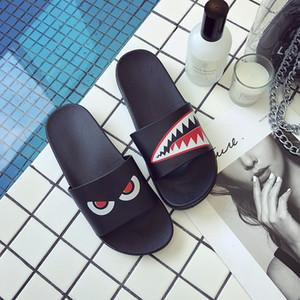 ASIFN Pantoufles Summer Beach Homme Diapositives femmes Flip Flops antidérapants style rayé extérieur Sandales intérieur Couple doux S20331