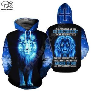 PLstar Cosmos cristiana católica Jesús retro sudaderas de moda suéter 3D Impreso Zip Sudaderas / Sudaderas tapas de hip hop