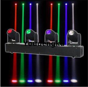 2 Pièces 4 Focos Led Profesional tête 10W faisceau mobile Head Led Bar faisceau Dmx RGBW 4in1 Moving Light Bar