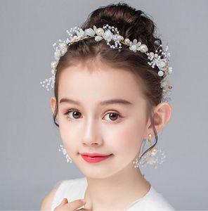 إكليل تيارا أطفال النسخة الكورية من سوبر الجنية أنثى رئيس زهرة الأميرة لطيف الحلو العصابة بنات الأداء اكسسوارات للشعر