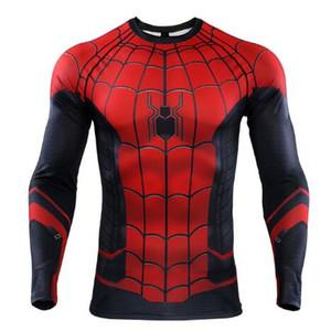 Novo Verão The Spider-Verse 3D Impresso camisas de T Homens Spiderman Camisas De Compressão 2019 Tops Masculino Quadrinhos Traje Cosplay