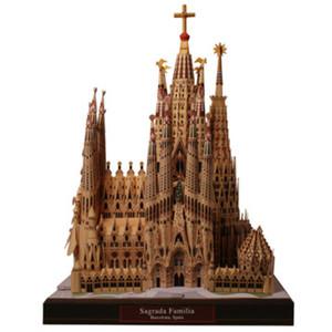 DIY Sagrada Familia, Испания Крафт-Бумага Модель Архитектура 3D DIY Образования Игрушки Ручной Игры Для Взрослых Головоломки Y190530