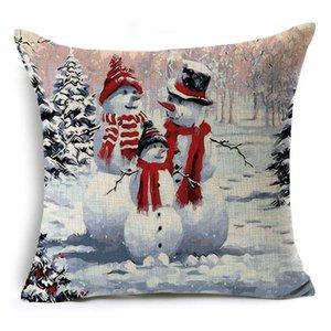 """15 стилей Рождественский бросок наволочка 45*45 см рождественские наволочки 18x18""""Рождественская подушка Снеговик печати наволочка"""
