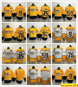 Mann Kinder Jugend Nashville Predators Hockey 9 Filip Forsberg 35 Pekka Rinne 59 Roman Josi 92 Ryan Johansen 76 PK Subban Trikots Genäht