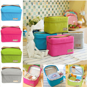 Portable Lunch Bag Thermal Insulated Lunch Box Tote Cooler Bag Picnic Travel Bento Pouch Kids School Storage Bags Container