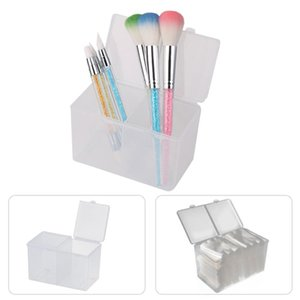 Compartments Nail Polish Remover Gel Manicure transparent cleaning cotton pad swab container storage holder organizer box for nail art